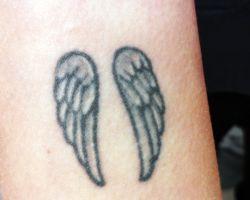 Angel Wing Tattoos On Wrist