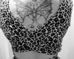 Music And Butterfly Tattoos