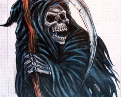 Tattoos Of The Grim Reaper Designs