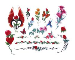 Angel Heart Tattoo Designs