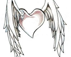 Hearts And Wings Tattoo Designs