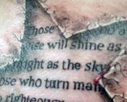 Religious Scriptures Tattoos