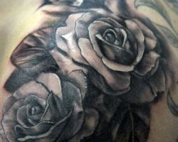 Pictures Of Black Roses Tattoos
