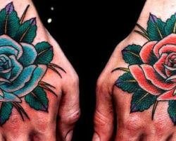 Rose Tattoos On Hands