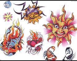Star Sun And Moon Tattoo Designs