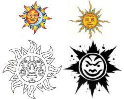 Sun Moon Tattoos Designs