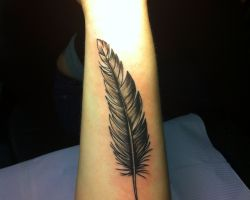 Black And White Feather Tattoos