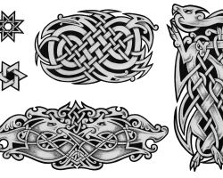 Celtic Dog Tattoos Designs