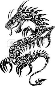 12415053-iconic-Дракон-Тату-векторные-иллюстрации