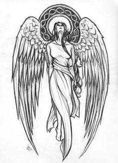 Guardian Angel Tattoo Designs For Girls
