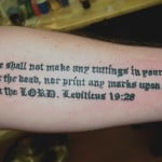 Religious Sayings Tattoos
