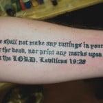 Religious Sayings Tattoos