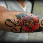 Rose Vine Tattoos For Men