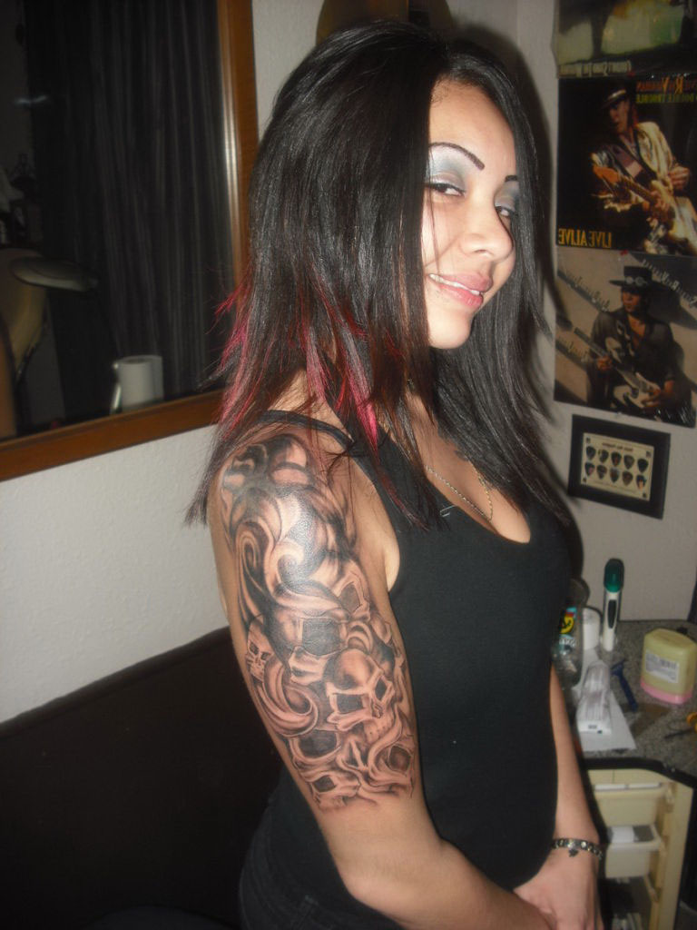 Female Half Sleeve Tattoo