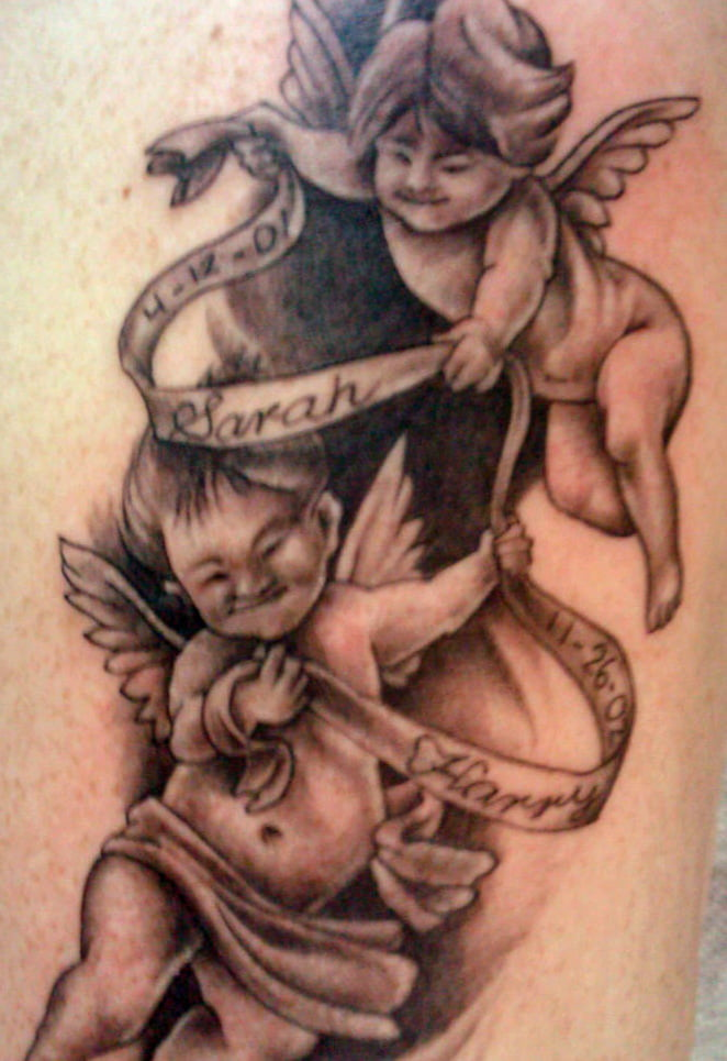 Angel And Cherub Tattoo Designs