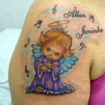 Angel On Shoulder Tattoo