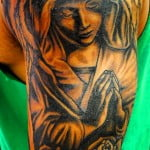 Angel Praying Tattoos For Men