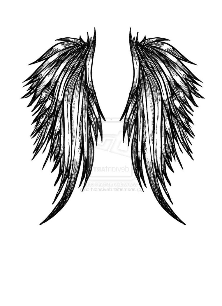 Angel Wing Pictures Tattoos