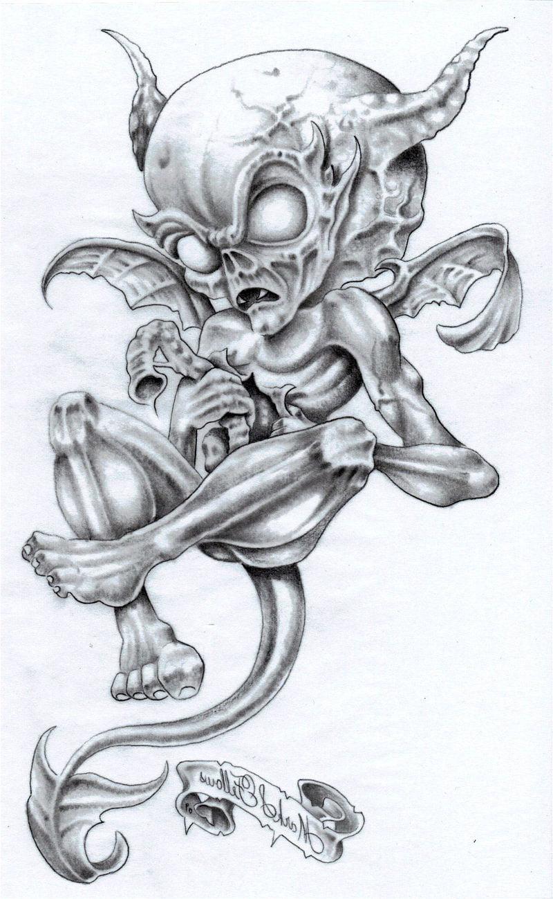 Demon Angel Tattoo Flash Pin Tattoos Art Design And Do It