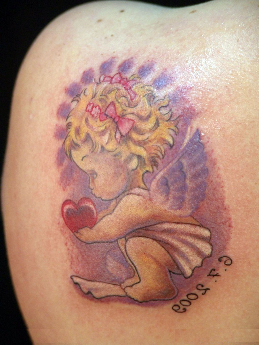 Baby Angel Tattoos For Girls
