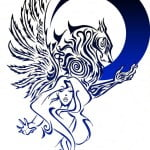 Fallen Angel Tattoo Designs For Women