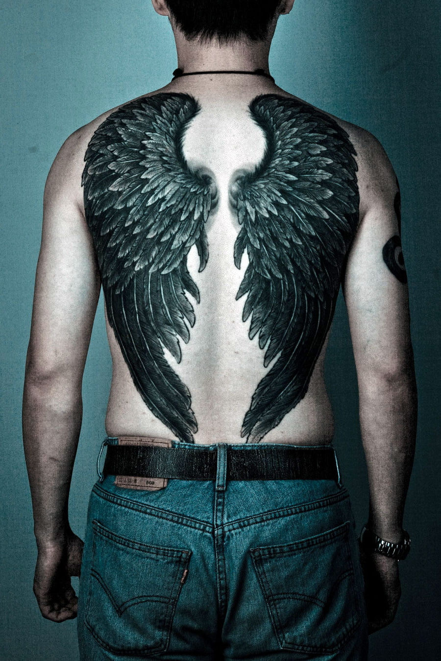 Male Angel Wing Tattoos