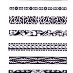 Hawaiian Tribal Armband Tattoos