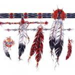 Indian Feather Armband Tattoo