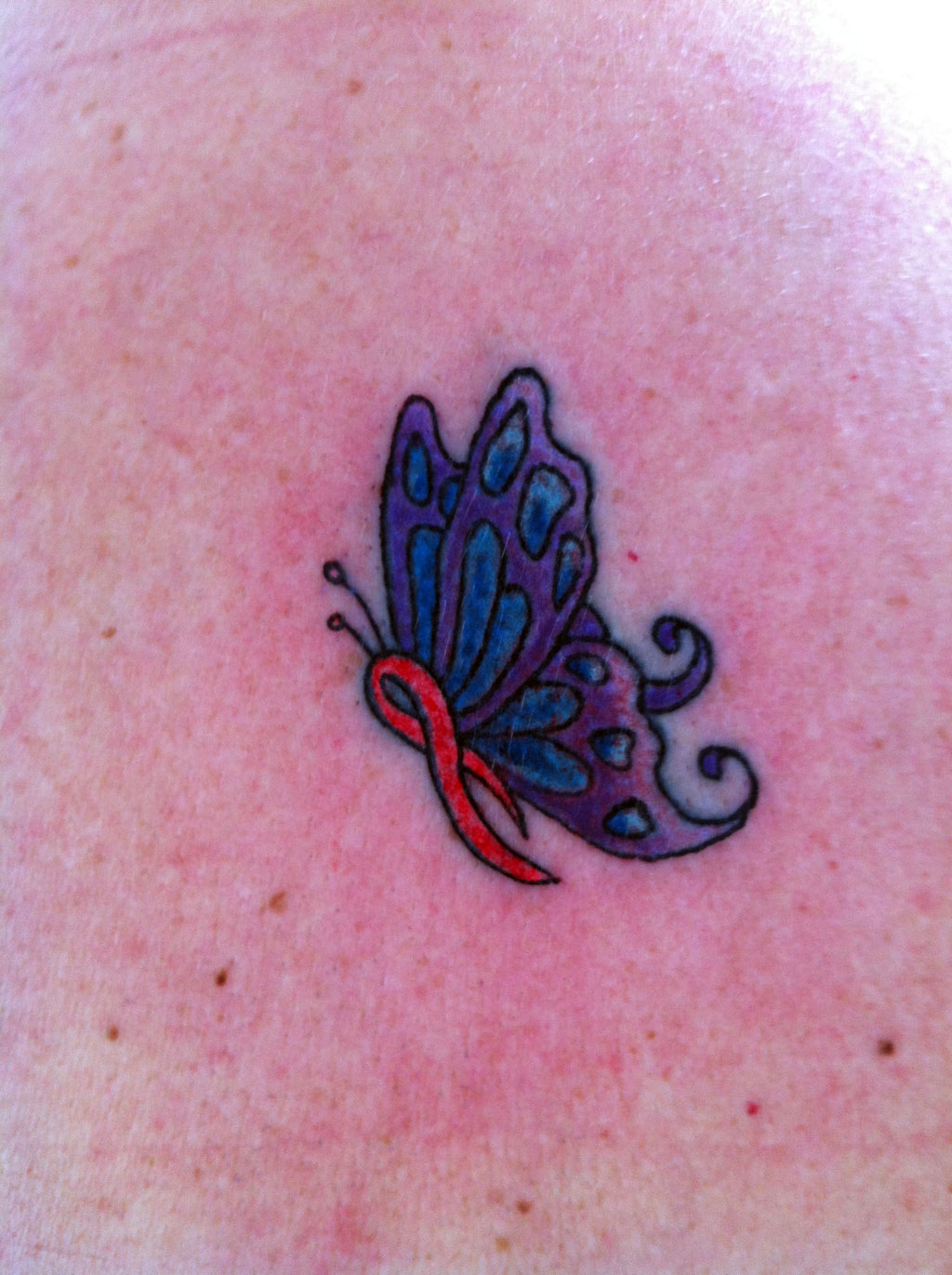 Butterfly Cancer Tattoo