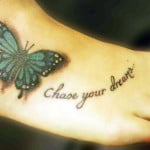Butterfly Tattoos For The Foot