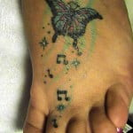 Butterfly Tattoos On The Foot