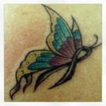 Butterfly Tattoos With Ribbons