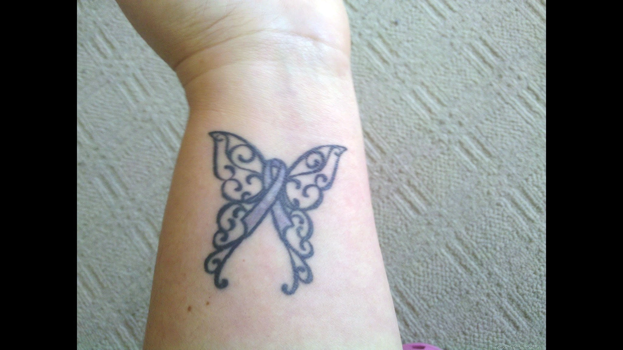 Cancer Butterfly Tattoos Designs