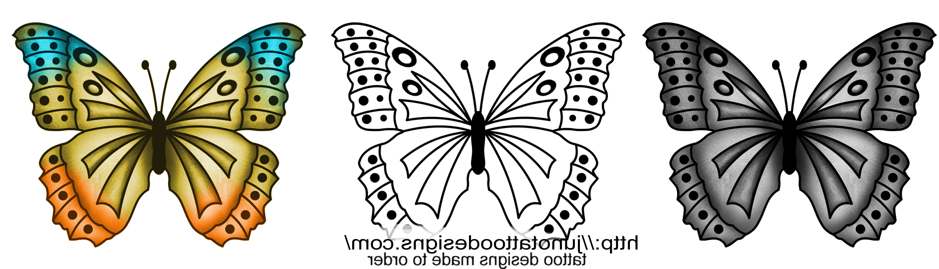 free butterfly tattoo designs to print cool tattoos bonbaden. Black Bedroom Furniture Sets. Home Design Ideas