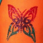 Glitter Butterfly Tattoos