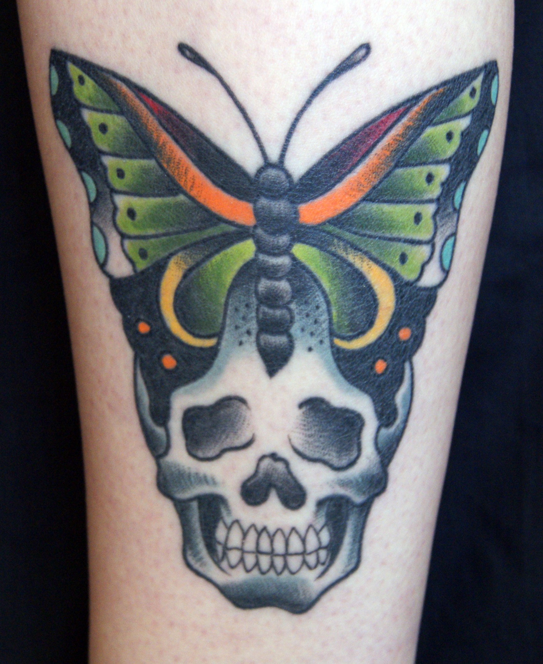 Skull And Butterfly Tattoos