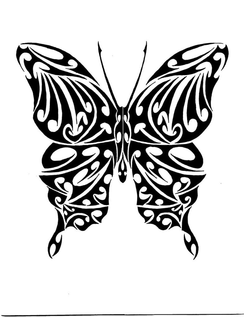 tribal butterflies tattoos Tattoos Tattoo Tribal Cool Bonbaden   Butterfly