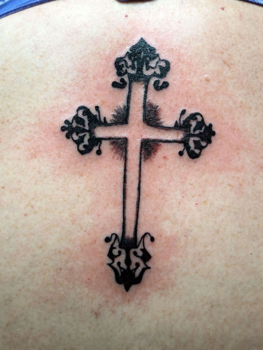 Black Cross Tattoo Designs