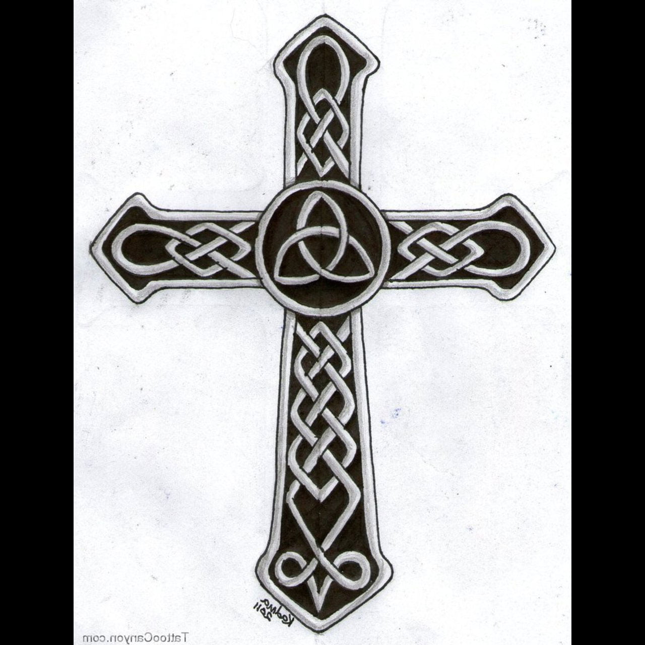 Celtic Cross Tattoo Designs For Men