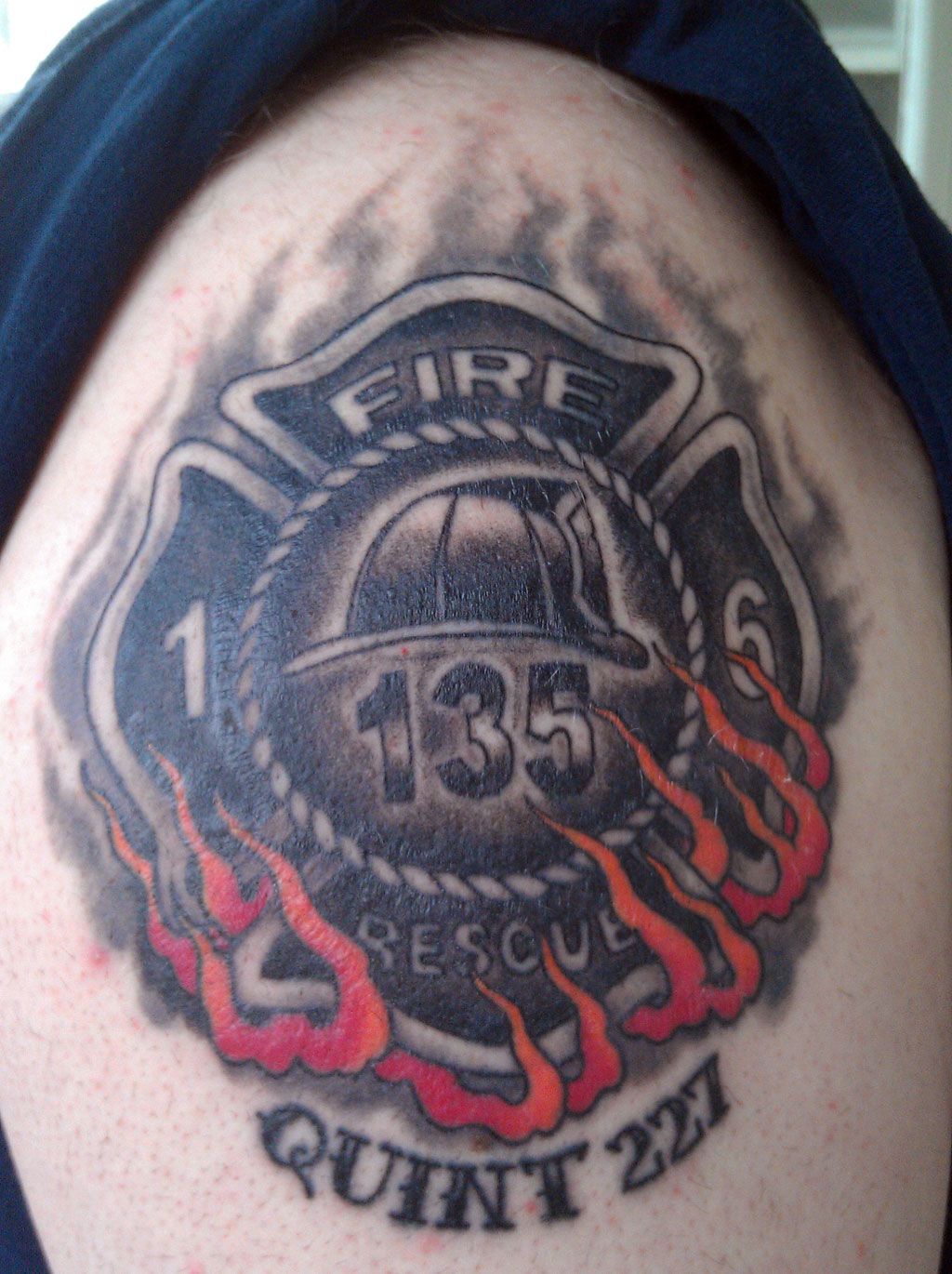 Firefighter Maltese Cross Tattoos
