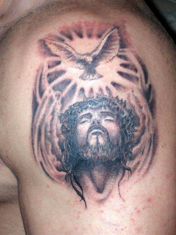 Jesus Carrying Cross Tattoo