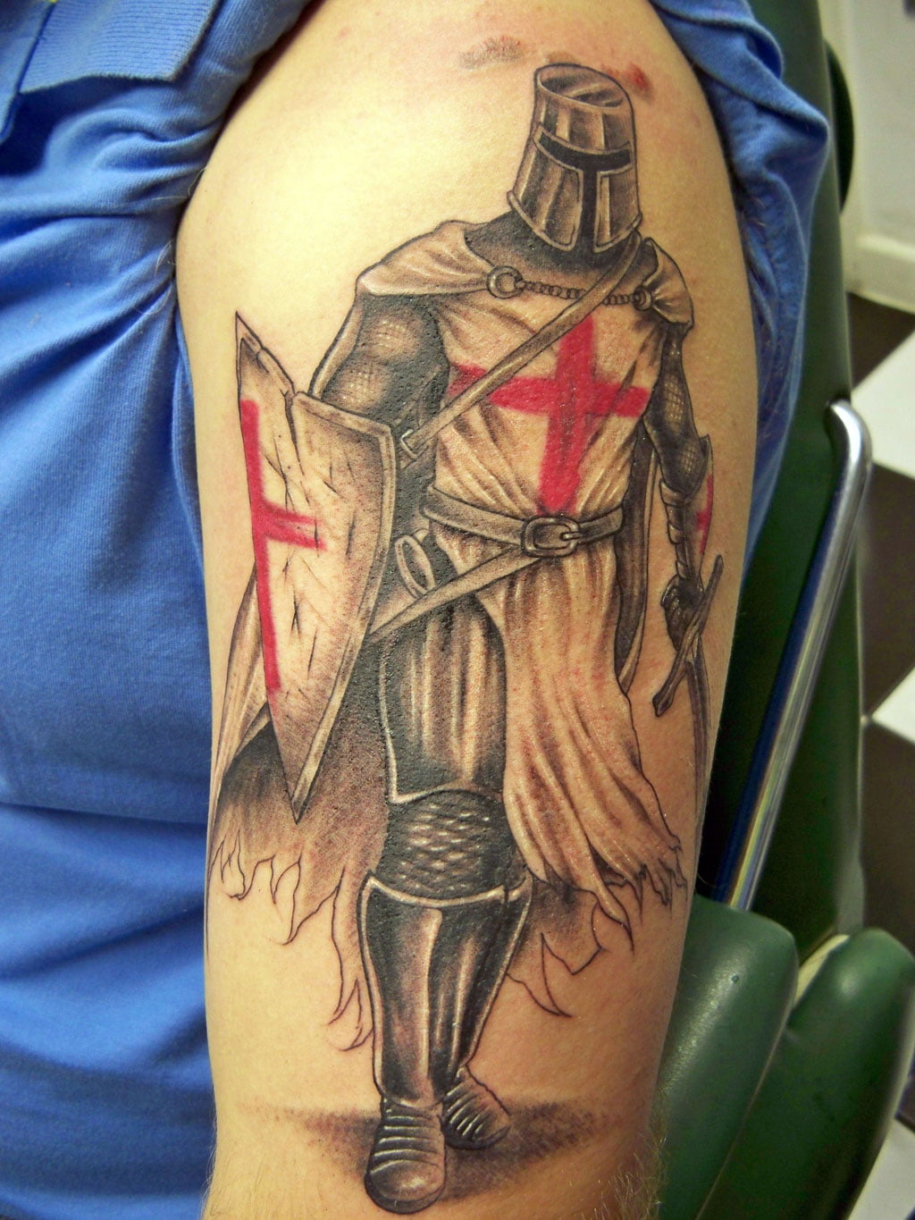 knights templar cross tattoo cool tattoos bonbaden. Black Bedroom Furniture Sets. Home Design Ideas