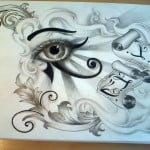 Eye Of Horus Tattoo Designs