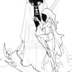 Grim Reaper Tattoo Stencils