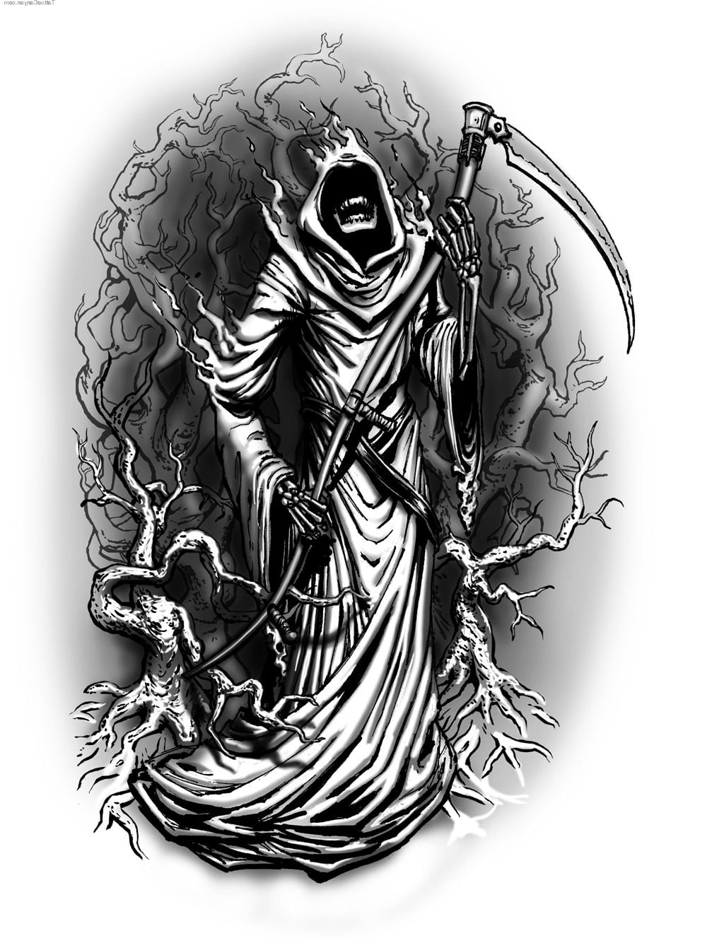Grim Reaper Tattoos Gallery