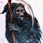 Tattoos Of The Grim Reaper Designs