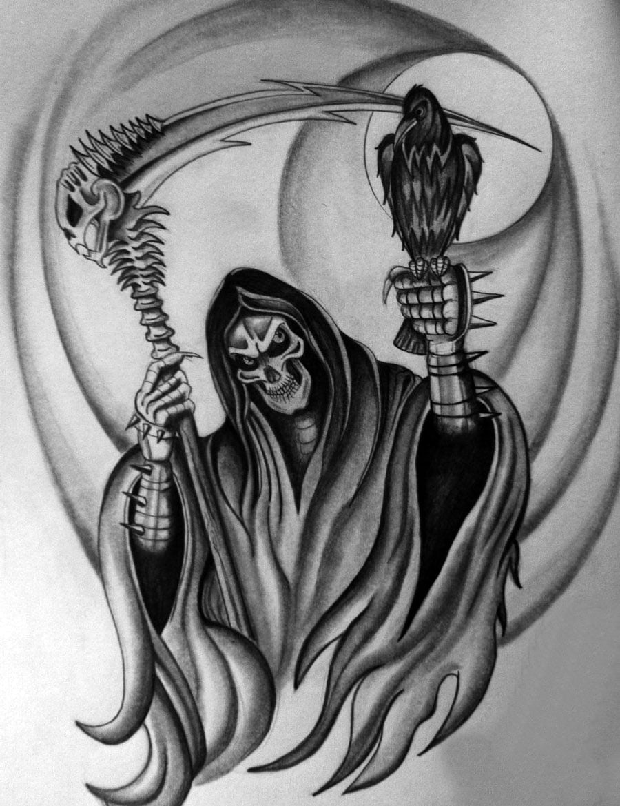 Top Grim Reaper Tattoos Designs