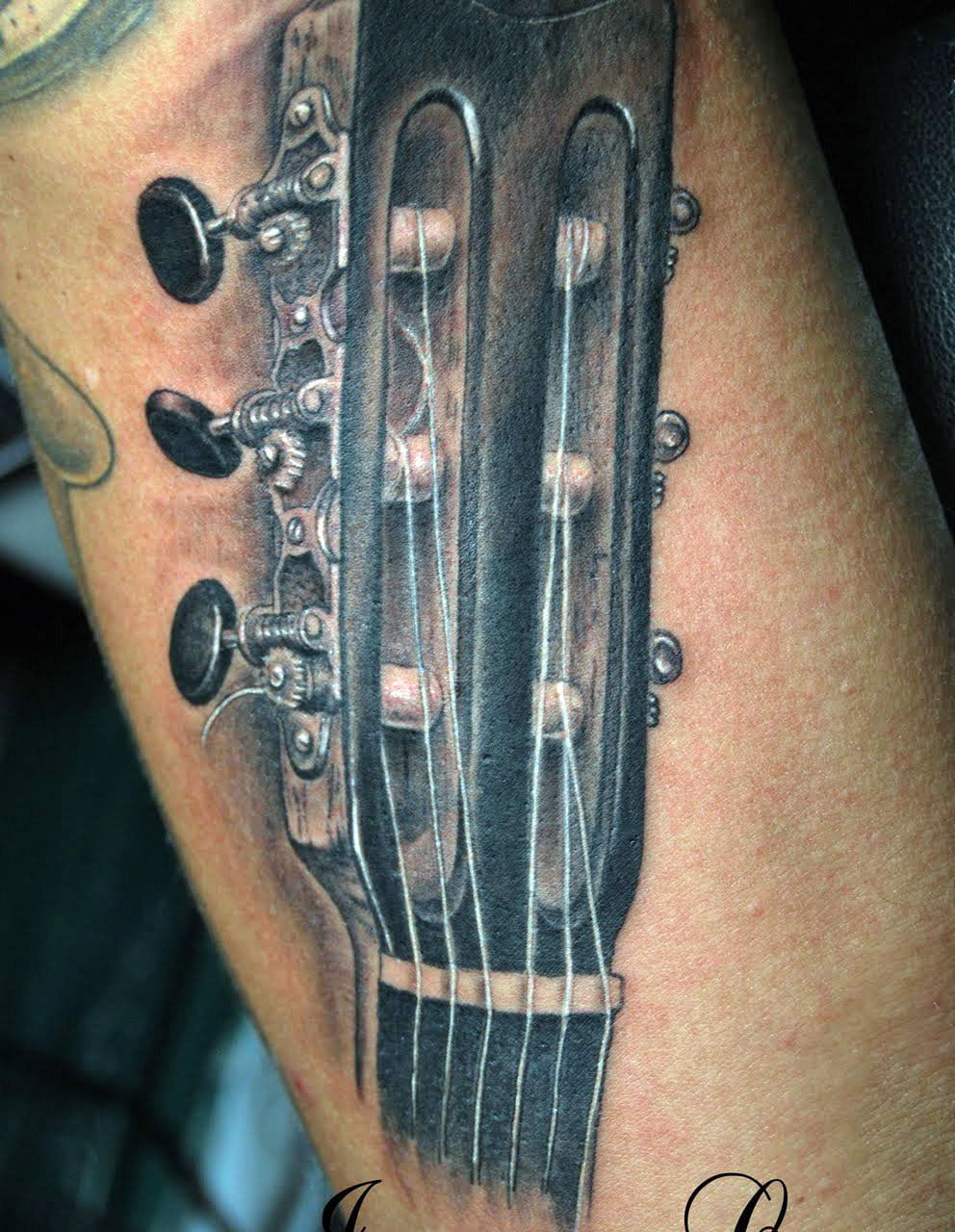 Guitar Tattoo Gallery