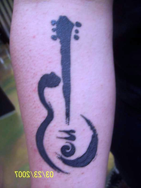 Guitar Tattoos Designs
