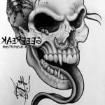 Skull And Guns Tattoo Designs